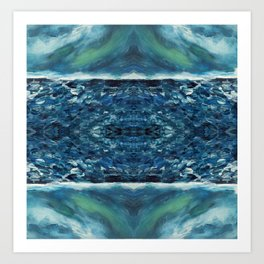 In the frost Abstract Painting Art Print