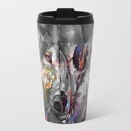floral wolf 3 Travel Mug