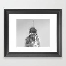 The Space Beyond B&W Astronaut Framed Art Print