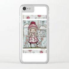 Happy Heart Clear iPhone Case