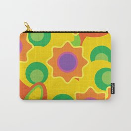 Bright colorful abstract background.Style of 60s. Carry-All Pouch