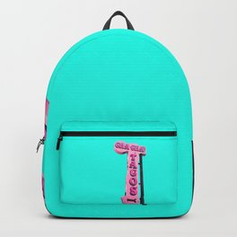 Cha-Cha's Tacos Retro Vintage Pink Sign Backpack