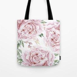Beautiful Pink Roses Garden Tote Bag