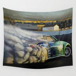 Drifting Car III Wall Tapestry