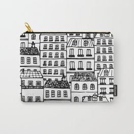 Paris Rooftops Sketch Carry-All Pouch