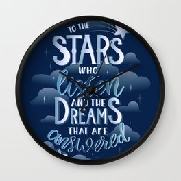 Night Court Book Quote ACOTAR Wall Clock