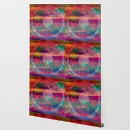Bright Rainbow Color Mandala Watercolor Abstract Wallpaper