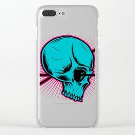 Skull Arrow Clear iPhone Case