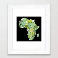south africa Framed Art Prints featuring Africa by Emir Simsek