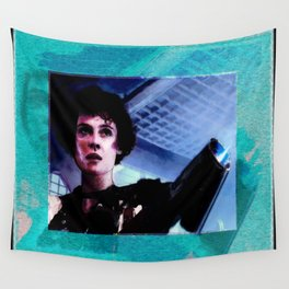 """Sigourney Weaver. In the movie """"Aliens"""" Wall Tapestry"""