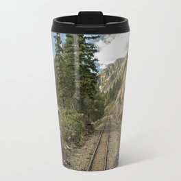 Tracks to where? Travel Mug