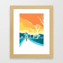 Autumn Stroll Framed Art Print