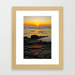 exhale and wave goodbye to the day Framed Art Print