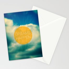 Dreams Happen Stationery Cards