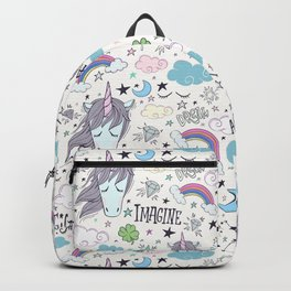 Magical Rainbow, Unicorn And Crystal Pattern Backpack