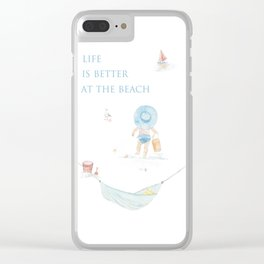 Life Is Better At The Beach Clear iPhone Case
