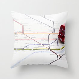 Lost & Found in the Roundabouts Throw Pillow