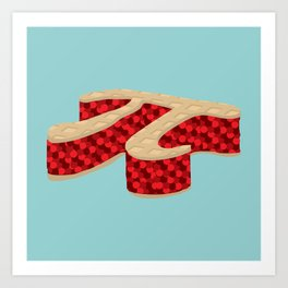 Pi Pie Art Print