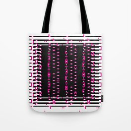 Licorice Bytes, No.11 in Black and Pink Tote Bag