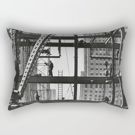 Steel workers New York City Rectangular Pillow