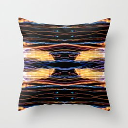 Colorful bright lights at night 2 Throw Pillow