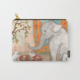 Tea with Elephant Carry-All Pouch