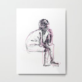 Woman resting Metal Print