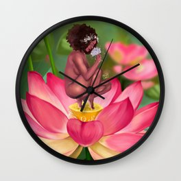 Lotus Blossom Wall Clock