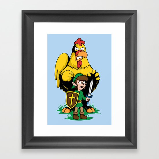 The Legend of Ernie (light background) Framed Art Print