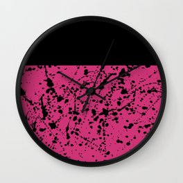 Splat Black On Yarrow Boarder Wall Clock