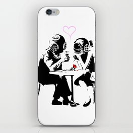 Banksy Diving in Love, Deep Divers Loving Artwork, for Wall Art, Prints, Posters, Tshirts, Men, Wome iPhone Skin