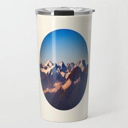Himalayan Snow Mountains Round Photo Travel Mug
