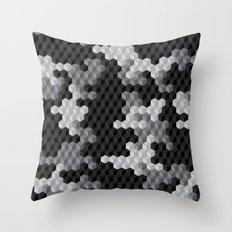 CUBOUFLAGE BLACK & WHITE Throw Pillow