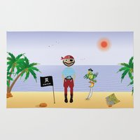 pirate Area & Throw Rugs featuring Pirate by MyimagesArt