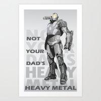 heavy metal Art Prints featuring Heavy Metal by Laura Stephens