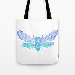 Summer Cicada – Blue Ombré Palette Tote Bag