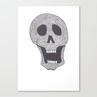 celtic Canvas Prints featuring Celtic Skull by ronnie mcneil