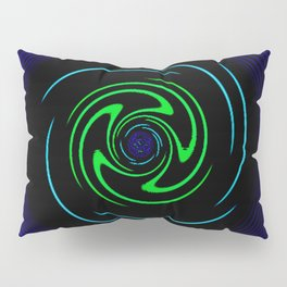 Blue Wheel Pillow Sham