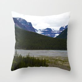 Stutfield Glacier along the Icefields Parkway  in Jasper National Park, Canada Throw Pillow
