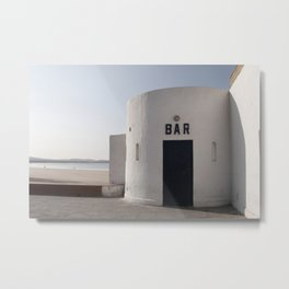 Waterfront Bar in Morocco Metal Print