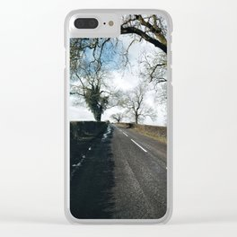 winter road in Derbyshire Clear iPhone Case