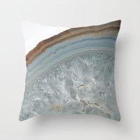 agate Throw Pillows featuring Agate by CAROL HU