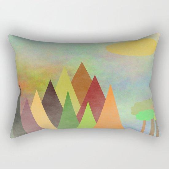 Whimsical Landscape Rectangular Pillow