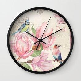 Macro flower #10 Wall Clock