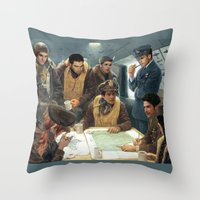 teen wolf Throw Pillows featuring Teen Wolf Pilot AU by DeadPlants