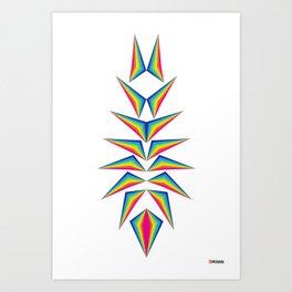 Delta Diamond Art Print