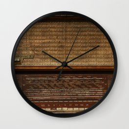 Vintage Photography of Wooden Tube Radio Wall Clock