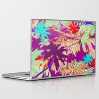 palm trees Laptop & iPad Skins featuring Palm Trees by Marcella Wylie
