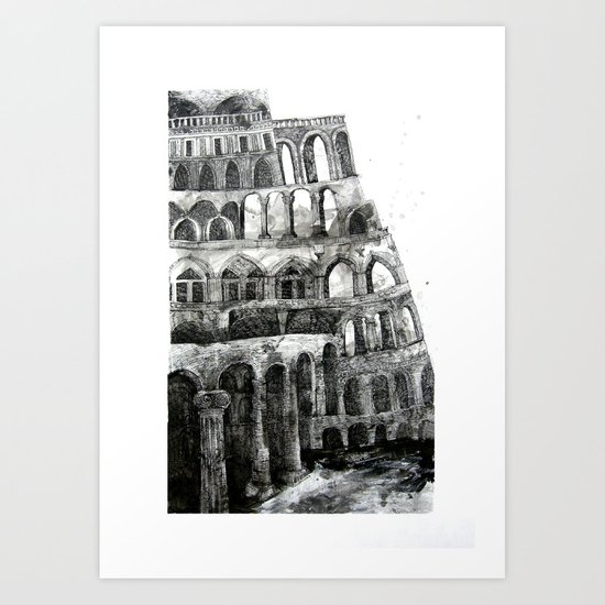 babel tower Art Print
