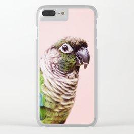 Parot Photography   Peek-a-boo   Tropical   Wildlife   Bird   Blush Pink Clear iPhone Case